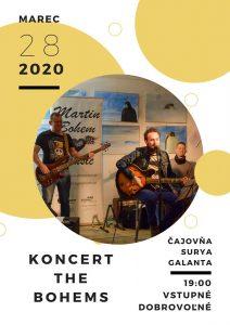 The Bohems - Koncert v čajovni Surya @ Čajovňa Surya